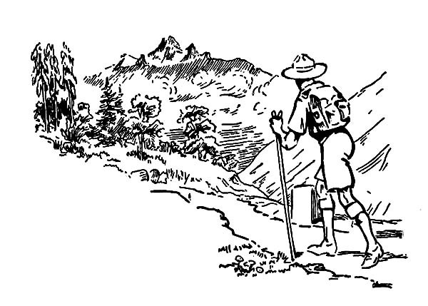 forest hiking trails coloring pages - photo#9